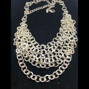 Chico's Multi Strand Silver Necklace